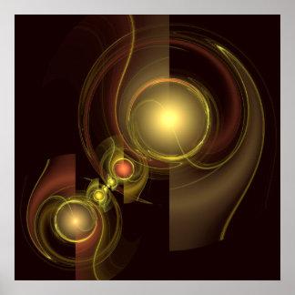 Impresión íntima del arte abstracto de la conexión
