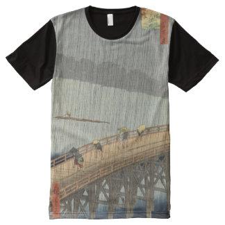 Impresión japonesa del arte - puente de travesía camisetas con estampado integral