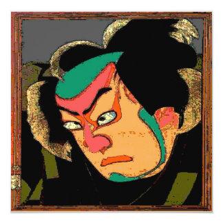 Impresión japonesa del hombre invitación 13,3 cm x 13,3cm