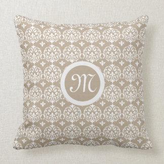 Impresión Kraft del damasco de la almohada del