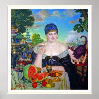 Impresión:  La esposa del comerciante de Boris Kus Póster