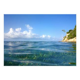 Impresión larga de Antigua de la bahía Cojinete
