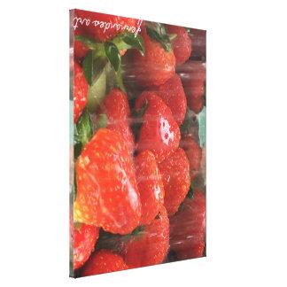 Impresión lavada de las fresas