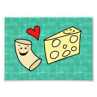 Impresión linda del arte del queso de los amores impresion fotografica
