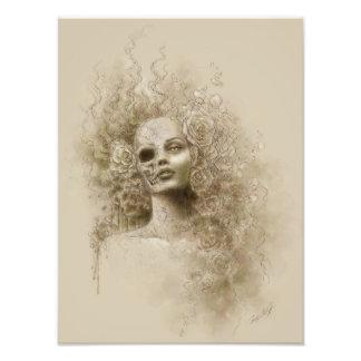 Impresión macabra de la foto del arte de la fantas