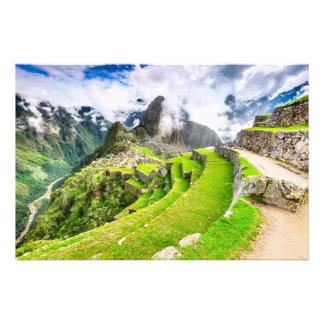 Impresión Machu Picchu de la foto