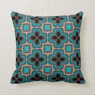 Impresión marroquí elegante en la almohada de tiro