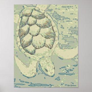 Impresión mate archival del poster de la tortuga