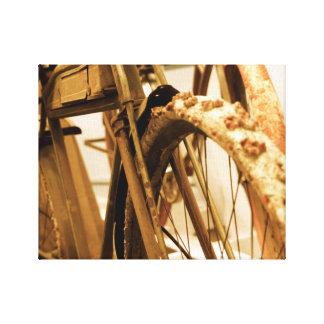 Impresión minimalista de la lona de la bicicleta