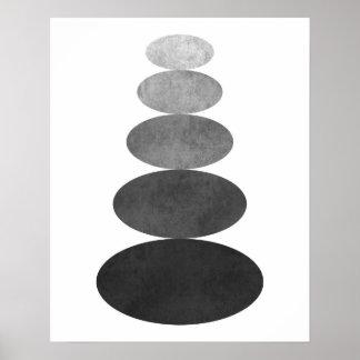 Impresión minimalista moderna del arte del