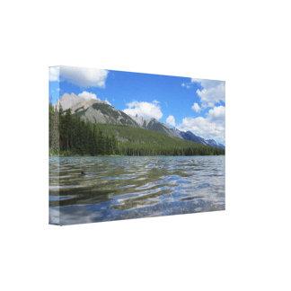 Impresión natural de la lona del paisaje