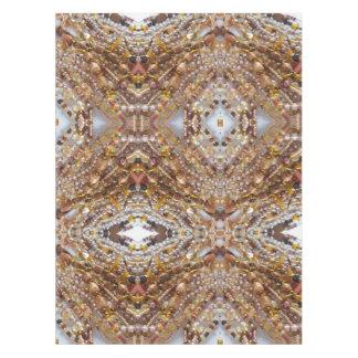 Impresión natural de las gotas de Earthtones del Mantel
