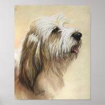 Impresión pequena del arte del perro de Griffon Ve