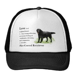 Impresión Plano-Revestida del arte del perro perdi Gorros