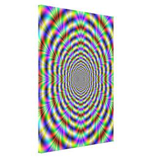 Impresión psicodélica de la lona del agujero de gu lienzo envuelto para galerias