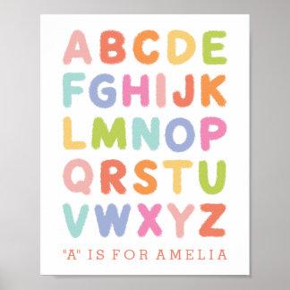 Impresión puesta letras mano personalizada del