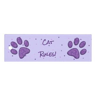 impresión púrpura de la pata del gato - regla