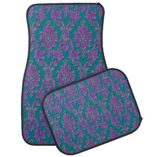 Impresión púrpura del damasco en trullo o su color alfombrilla de coche