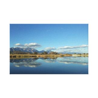 Impresión reflexiva de la lona del agua