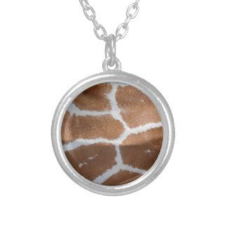 impresión reticulada de la piel de la jirafa colgante redondo