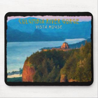 Impresión retra de la garganta del río Columbia y Alfombrilla De Ratón
