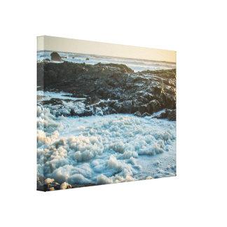 Impresión rocosa helada de la lona de la resaca