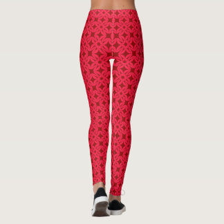 Impresión roja del vintage hermoso leggings