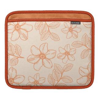 Impresión romántica del flor de la flor del jardín mangas de iPad
