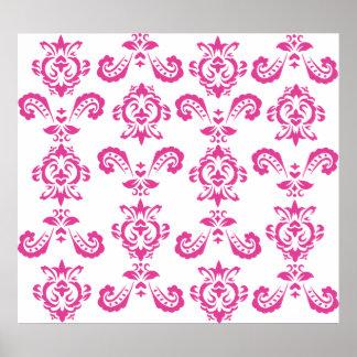 Impresión rosada barroca