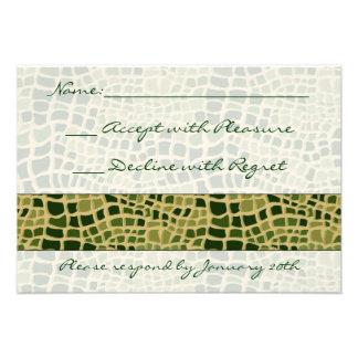Impresión RSVP de la serpiente Invitaciones Personales