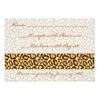 Impresión RSVP del guepardo Invitaciones Personales