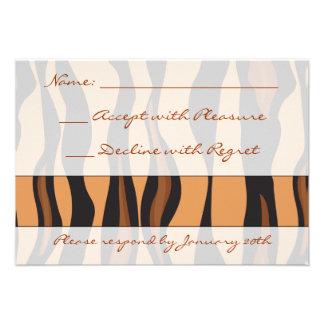 Impresión RSVP del tigre Comunicados Personalizados