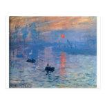 Impresión, salida del sol de Claude Monet Postal