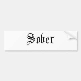 Impresión sobria, gótica - pegatina para el