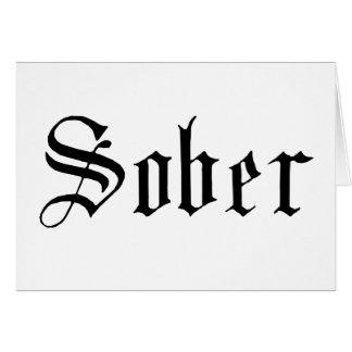 Impresión sobria, gótica - tarjeta de felicitación