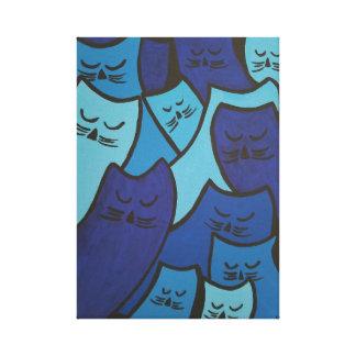 Impresión soñolienta de la lona de los gatitos
