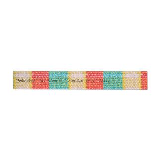 Impresión tejida de la tela etiquetas envolventes de dirección
