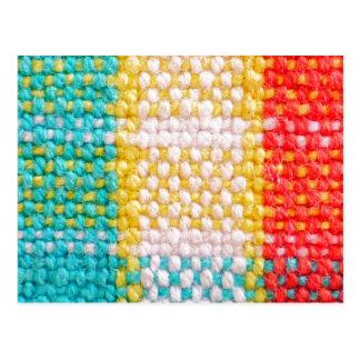 Impresión tejida de la tela tarjeta postal