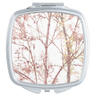 Impresión texturizada de la naturaleza espejo de maquillaje