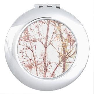Impresión texturizada de la naturaleza espejo maquillaje