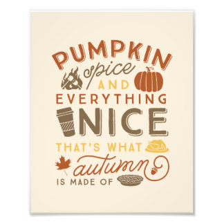 Impresión tipográfica del arte del otoño de la foto