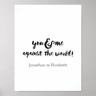 Impresión tipográfica romántica personalizada