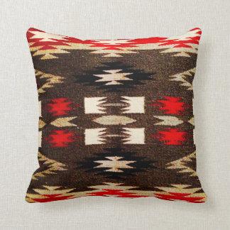 Impresión tribal del diseño de Navajo del nativo Cojín Decorativo