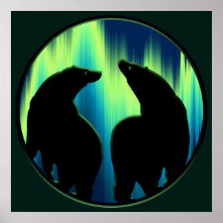Impresión tribal LG del poster del oso de la impre