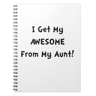 Impresionante de tía libreta espiral