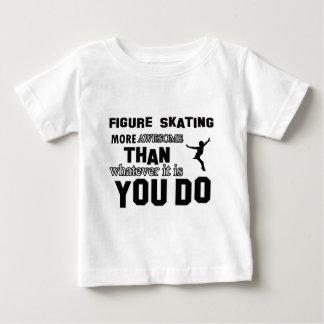 Impresionante diseños del patinaje artístico camiseta de bebé