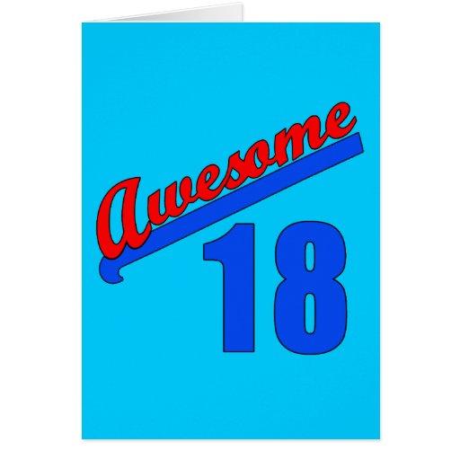 Impresionante en 18 años del décimo octavo cumplea felicitaciones