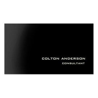 Impresionante negro gris del estilo de moda tarjetas de visita