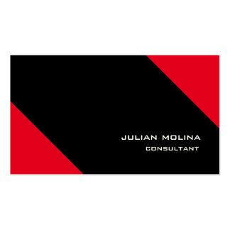 Impresionante negro rojo del estilo de moda tarjetas de visita