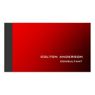 Impresionante rojo gris del estilo de moda tarjetas de visita